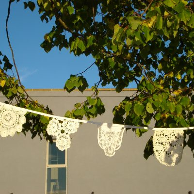Lace bunting at The Festival of Thrift