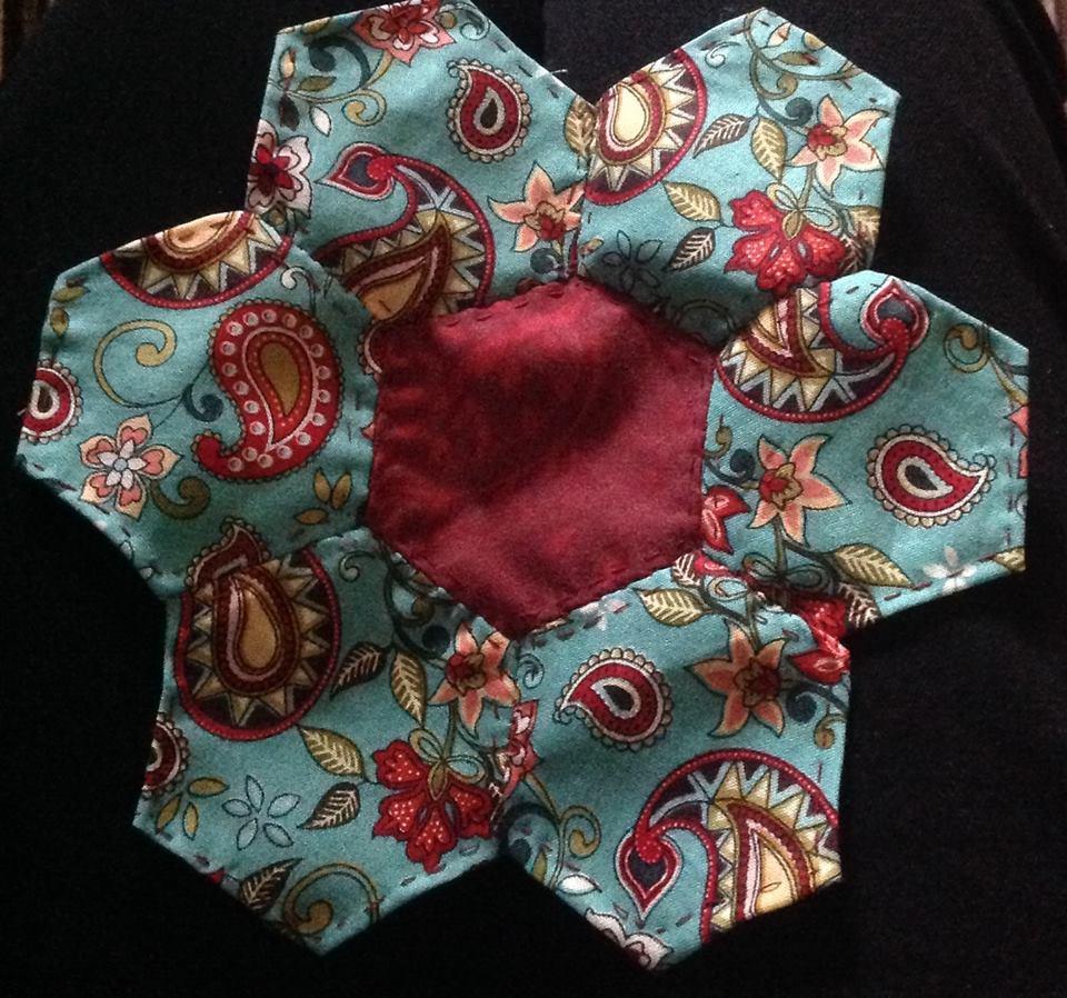 Julie's hand-pieced hexagon