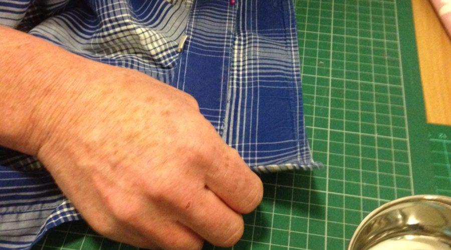 Rejigging a shirt collar