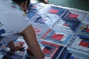 Making a Log Cabin Quilt
